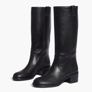 Madewell The Allie Boot in True Black Leather 9